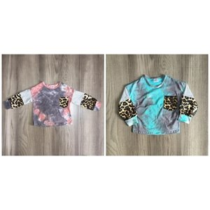 Girlymax fall winter baby girls mommy & me raglans boutique cotton leopard top shirts tie dyed clothes milk silk long sleeve 201126