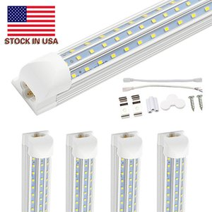 4ft 60W 8ft 72W 120W Double Side 4 Rows LED Tube Lights V-Shaped Integrated LED Tube Light Fixtures SMD2835 LED Shop Lights