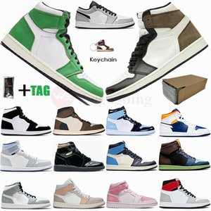 Bio Hack Nike Air Jordan Retro 1 High Travis Scotts 1s Low Paris Mens-Basketball-Schuh Twist UNC Zoom Racer Blau Mid Milan Obsidian Fearless Frauen Stylist Sport-Turnschuhe