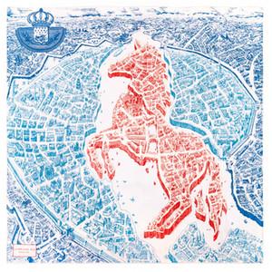 Руководство для рук Прокат саржевого шелковый шарф Женщины Лошадь Карта Квадратные шарфов Echarpes Foulards Femme Wrap Lady Бандана Хиджаб 90см * 90см
