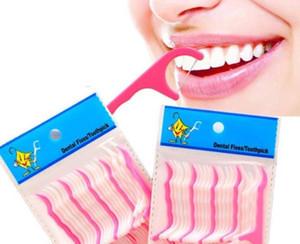 25pcs / Ensemble Flossing Dentaire Dentaire Dentaire Floss Flosser Unique Dents Stick Stick ou Jlletz FFShop2001