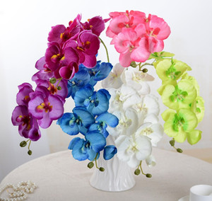 Touch Real Butterfly Orchidy Branche Artificielle Soie Fleurs Mariage Accueil Décor Artificial Plante Faux Plante Phalaenopsis