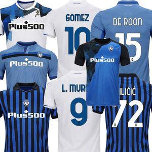 2020 2021 2021 Atalanta BC Soccer Jerseys L.Muriel Barrow Gomez de Roon Mancini Duvan Home Away 3rd 20 21 كرة القدم الرجال والاطفال قميص