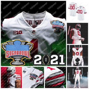 Ohio State Buckeyes 2021 Playoff National Championship Justin Fields J.P. Andrade Danny Vanatsky Gunnar Hoak NCAA College Football Jersey