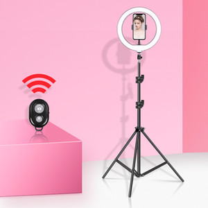 10inch 26cm Video Light Dimmable LED Selfie Ring Light Photography Ring lamp with Tripod Stand For Youtube Makeup Video