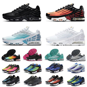 Tn Plus SE 3 Running Shoes Des chaussures III Triple White Black Hyper Blue Green Neon Mens Womens Trainers Sneakers Sports