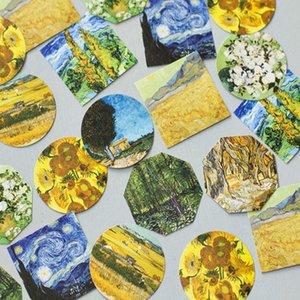 45 Sheets Box Van Gogh Retro Mini Decorative Paper Sticker Pack Diy Diary Scrapbook Decorative Collage Sticker Aesthetics jllhDE bdebag
