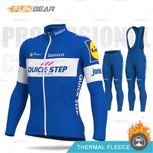 QUICK STEP Pro Cycling Team maillot manches longues hiver vêtements cyclage thermique Toison VTT Vêtements Homme Route Uniforme