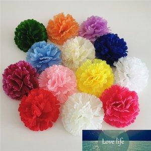 200PCS 9CM 13COLORS Artificial Carnation Silk Flower DIY Wedding Decoration Flowers Wall Flower Bouquet Kissing Ball Making