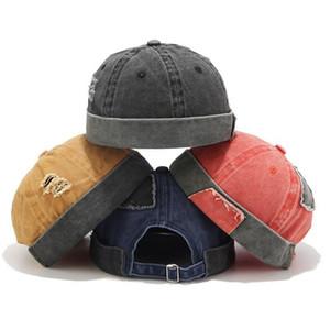Мужская женская шапка унисекс шапка японский случайный докер моряк механик бессмысленный промытый отверстие шляпа Sombrero mujer casquette homme