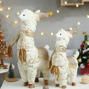 Figurine della bambola di renna retrattile Navidad Figurine per il bambino Red Christmas Tree Decorations Regalo di Capodanno