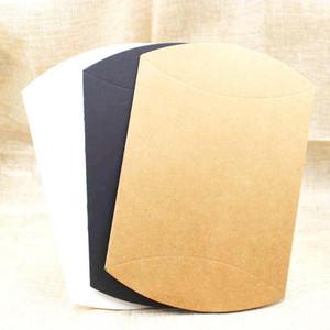 Caja de regalo de Kraft Feiluancustom Almohada Negro Blanco Cartón de papel de caramelo caja de embalaje Mutli Tamaño de 5 piezas por lote personalizados wmtXba extra logotipo de costes