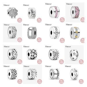 Nuovo foglio clip percorso stella trifoglio arco perle fai da te Fit originale Pandora charms in argento 925 gioielli making Bracciale Perle