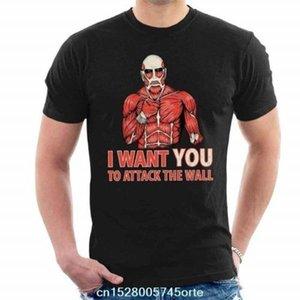 Imprimé Attaque camiseta sur Titan Je veux que vous attaquez T-shirt 100% shirt de coton hommes mur