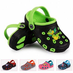 Nova 2020 Shoes Crianças sandálias Crianças Verão Boy Girl Praia Sandals doce Buraco Cor bebê Chinelos Animal Print dinossauro Shoes Kid Shos jfLV #