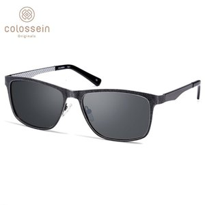 Colossein Polarized Sunglasses Classic Square Sun Uv400 Vintage Glasses for Men Outdoor Driving Tac Flat Eyewear