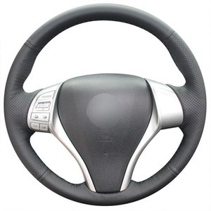 Black Artificial Leather Car Steering Wheel Cover for Nissan Teana Altima Tiida
