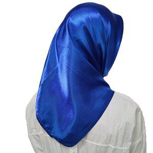 1 pc headpiece muçulmano cabeça lenços macio seda sensação shawl cabeça envoltórios cor sólida lenço lenço grande quadrados lenços cachecóis q jllrov