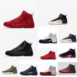 Retro mens jumpman 12s xii basketball shoes new Red Black Winter CNY Gold Navy Taxi Black Nylon youth kids j12 sneakers tennis with box