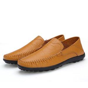 Zapatos Vestir De Los Hombres Gerçek Deri Yumuşak ve Rahat Yürüyüş Sürüş Ayakkabı Nefes El Yapımı