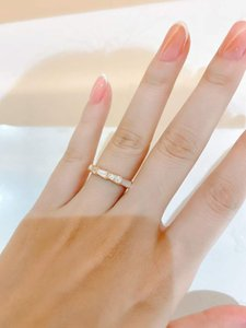 S925 SILVER Luxurious quality punk band ring with diamond and shell for women wedding jewelry gift Free shipping PS5433