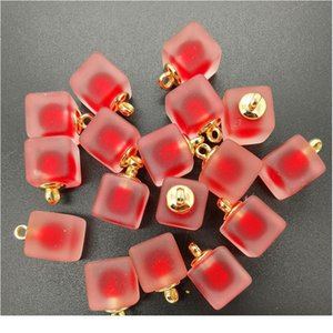 New Diy 8pcs 16mm Mini Acrylic Frosted Square Beads Charm Pendant Ornaments Jewelry Making jllRiw
