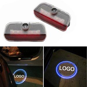 Portière LED pour Volkswagen VW Magotan CC Passat Sagitar Golf Bienvenue Lumières Ombre Projecteur Courtoisie Step lumières laser Emblem Lampes