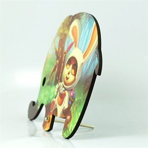 Sublimación en blanco Elefante Pinturas de Madera Regalos Niños Pintura Madera Pintura Conejo Animal Decktop Ornamentos Niños Lindo 11 4xmb P2