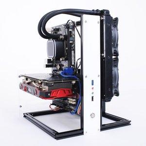 ITX mATX ATX Bilgisayar Açık Frame Hava Vaka HTPC PC Oyunları GPU DIY Kitleri Alüminyum Test Bench Su soğutma