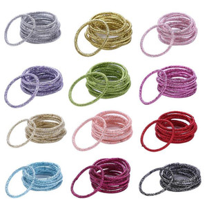 12 Colors 10pcs Card Fashion Candy Colors Rubber Bands Child Lady Headbands Elastics Hair Accessories For Girls Kids bbyoFu sweet07