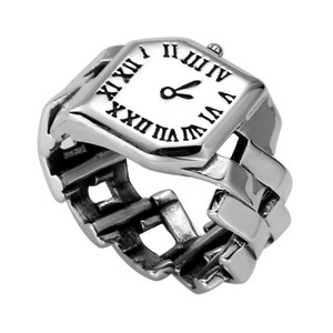 New Arrival Roman Numerals Watch Shape Open Ring Vintage Women Finger Ring Jewelry Gift for Love Friend