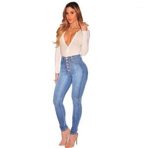 Корейские джинсы 2020 сплошные мытья тощая женщина высокая талия стрейч джинсовые брюки толчок джинсы тонкий Femme осень новая распродажа предметы1