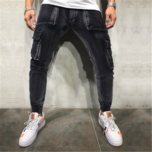 Mens Skinny Jeans Mode Trend Reißverschluss Button High Street Denim Bleistift Hosen Frühling Männlich Neue Skateboard Casual Slim Denim Hose
