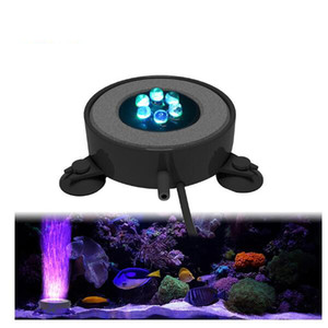 Underwater LED Aquarium Pond Fish Tank Light RGB Color Changing Submersible Fish Tank Lamp With Air Bubble Stone