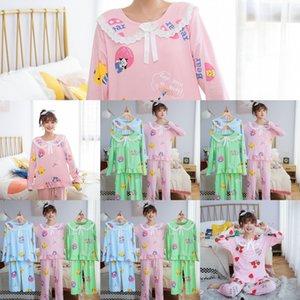 Дети Коротких Cartoon Дизайнер Девушка Creeper младенец Pijamas Наборы Vfy0 Пижамы Детской одежды Sleeve Luxury Пижама Boy Pajama Sleepw Top + Sxab
