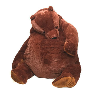 100cm giant simulation DJUNGELSKOG bear toy Plush Brown Teddy Bear Stuffed Animal doll lifelike home decor birthday gift for kid 201021