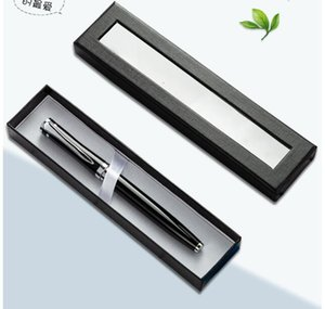 Pen Gift Box Transparent Window Paper Packaging Pen Box Ballpoint Pens Pencil Cases Display Stand Rack School Office Supplies Stationery