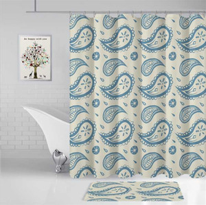 Water proof digital printing shower curtain geometric animal flower printing