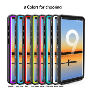 3H Glass Protector Case Redpepper Waterproof Dustproof Case for Samsung Note 9 Multi color Waterproof Case For note9 with Retail Package
