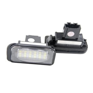 2 x 18-SMD LED License Plate Lights for C-Class W203 4D Sedan 2001-2007 SMD3528 LED Number Plate Lamp Bulb