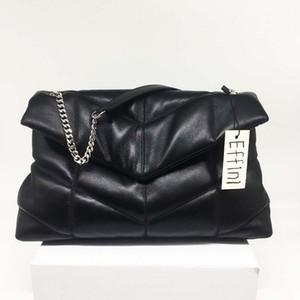 Big Bolsas Bolsas Loulou Sacão Saca Senhora Senhora Soft Quilted Lambskin Mulheres Luxurys Designers Sacos Moda Corrente Mensageiro Crossbody Bag