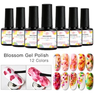 MEET ACROSS Blossom Gel Nail Art Colorful Blossom Nail Polish Blooming Effect Flower Gel Polish Soak off UV