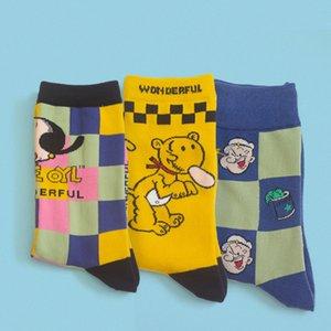 Sanzetti 5 pares / lote homens coloridos verão meias casuais novidade penteado algodão feliz hip hop xadrez listrado vestido listrado tornozelo meias cx200630