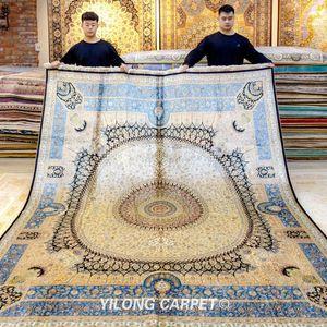 Carpets YILONG 8'x10' Handmade Turkish Silk Bedroom Traditional Rug
