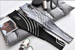 20FW Fashion Women's Leggings Sports Stretch Slim Three Leaf Stripe High Quality Yoga Pants Wholesale Size S-XL