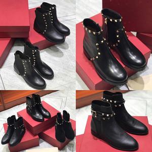 Womens Ankle Boots Granulated Calfskin Rivet Australia 카우보이 MotoCycle Martens 스노우 보이와 함께 겨울 부츠 신발
