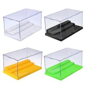 1шт пыле Витрина Gray Base 3 шага Display Box Акриловый пластик Дисплей Box Case 25.5x15.5x13.8cm Совместимость Все бренды bbyJIl homebag