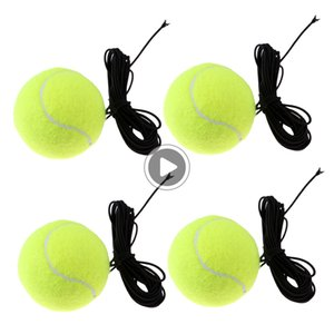 X3A9 Tennis Ball W / String Replament ténis Practi instrutor Bolas 4pcs