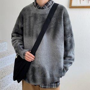 New Uyuk Fall Trend Fashion Свободная повседневная Качественная Корейская версия простых диких галстуков Окрашенные мужские толстые игольные свитера