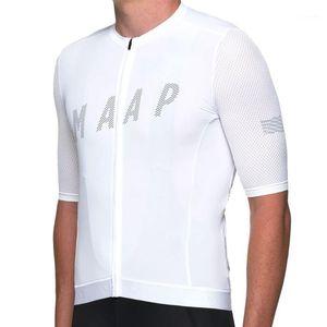 Maillot de cyclisme de cyclisme d'été MAAP Courte Vêtements de vélo VTT respirant Ropa Ciclismo Sportswear Vélo Jersey 19D Coussin1